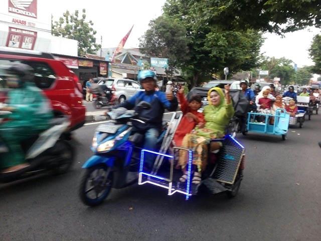 Ojek difabel 'satu-satunya di dunia' ada di Yogyakarta